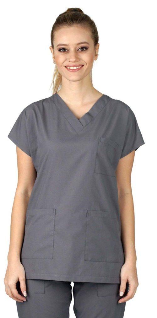 Uniforme chirurgical modèle Dr Greys gris foncé